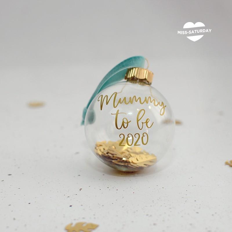Bola Navidad vidrio - Mummy to be