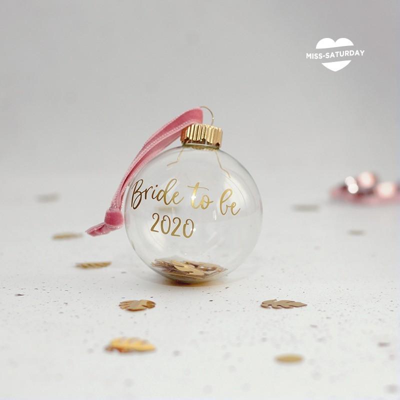 Bola Navidad vidrio - Bride to be