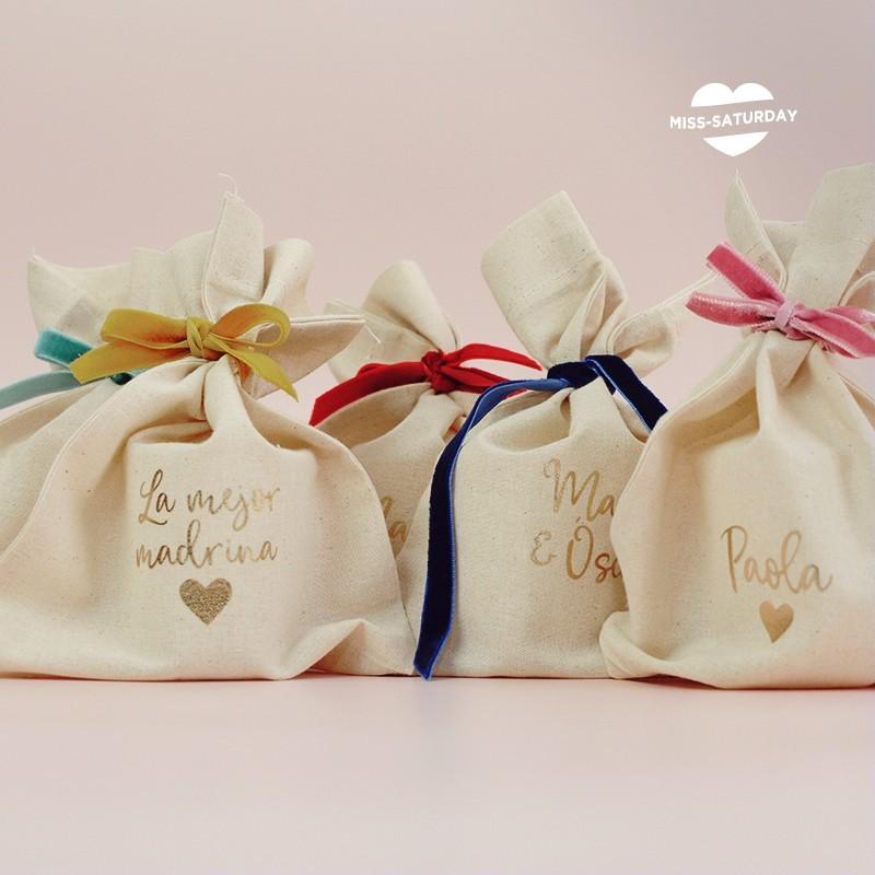 Bolsa tela personalizada boda