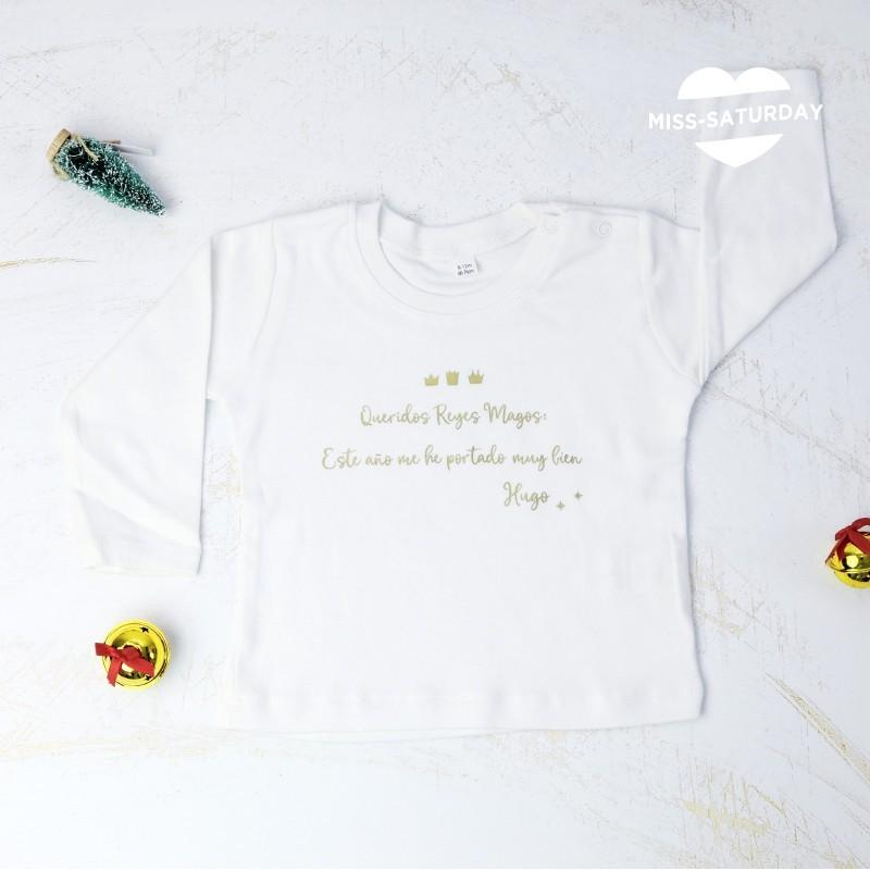 Camiseta mangas largas Blanca - Reyes Magos