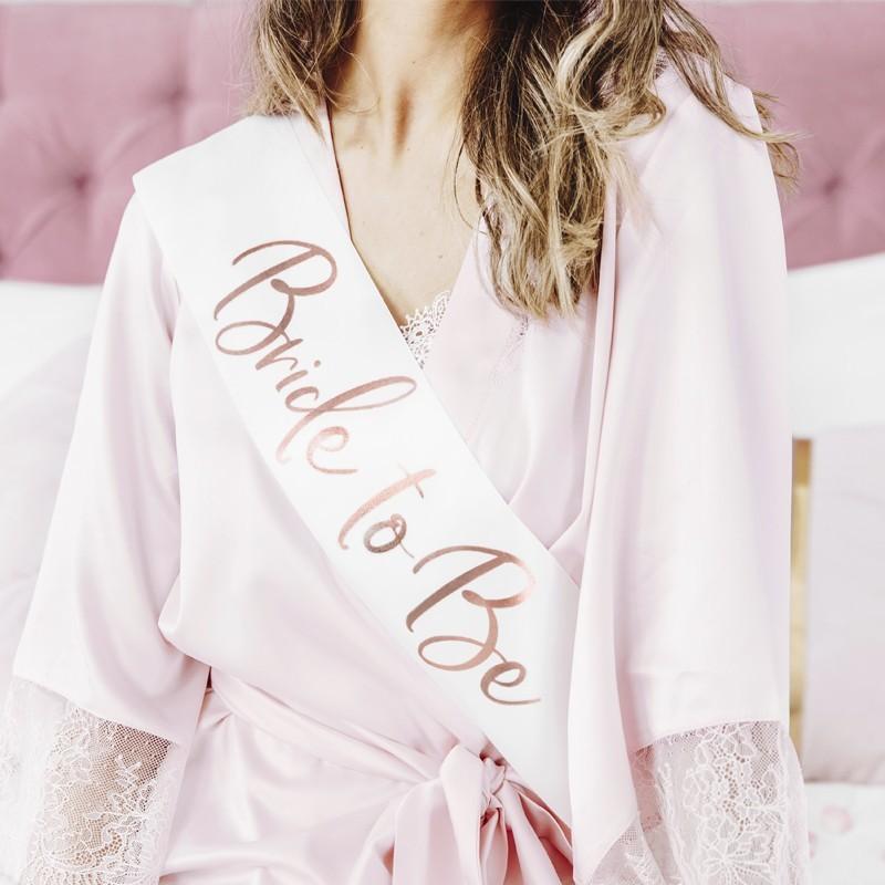 Banda raso Bride to be oro rosa