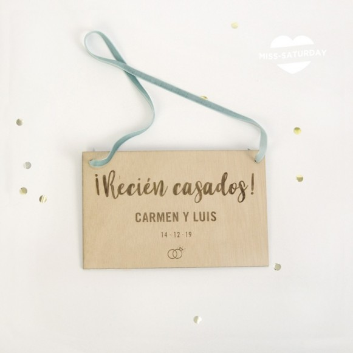 Cartel Recién casados personalizado