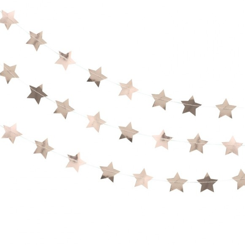Guirnalda estrellas oro rosa
