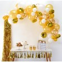 Arco de globos dorados