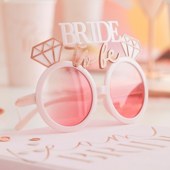 Gafas Bride diamante oro rosa