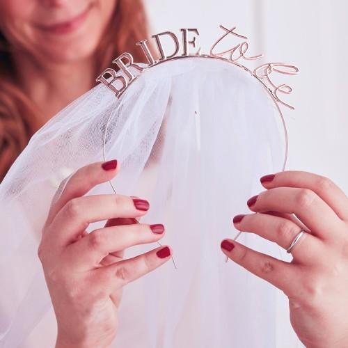 Diadema Bride to be con velo