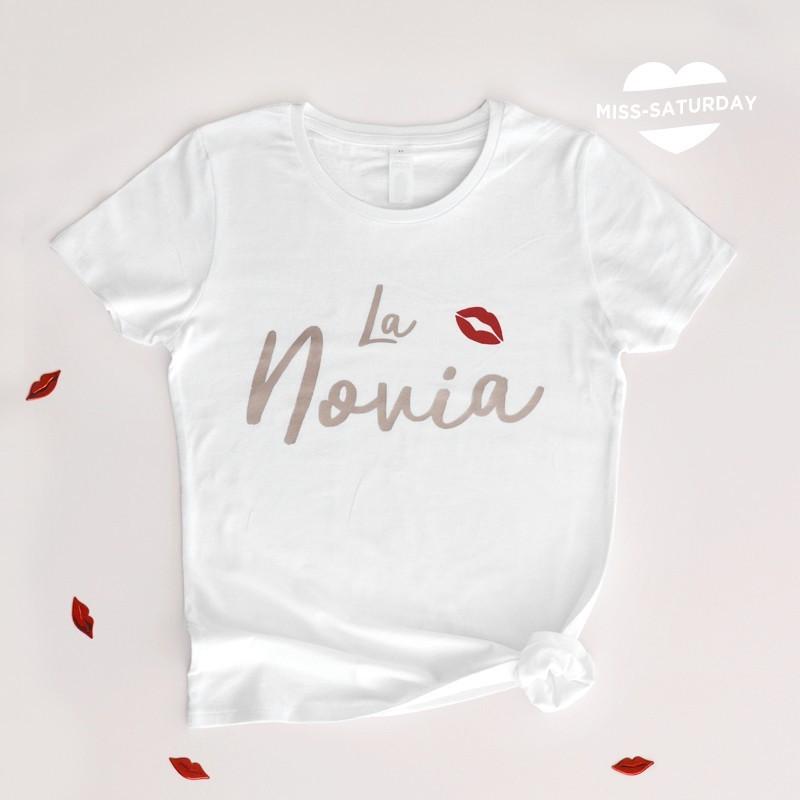 Camiseta La novia - beso