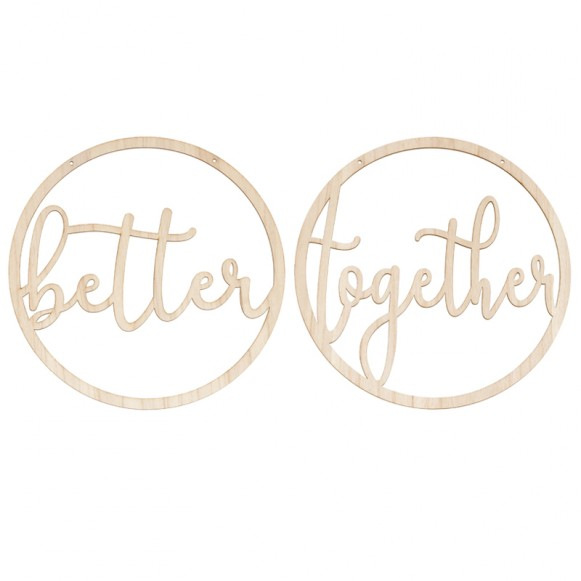 Letreros sillas Better Together