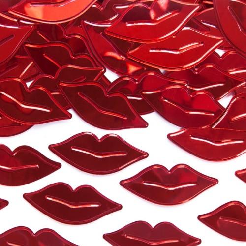 Confetis besos metalizados