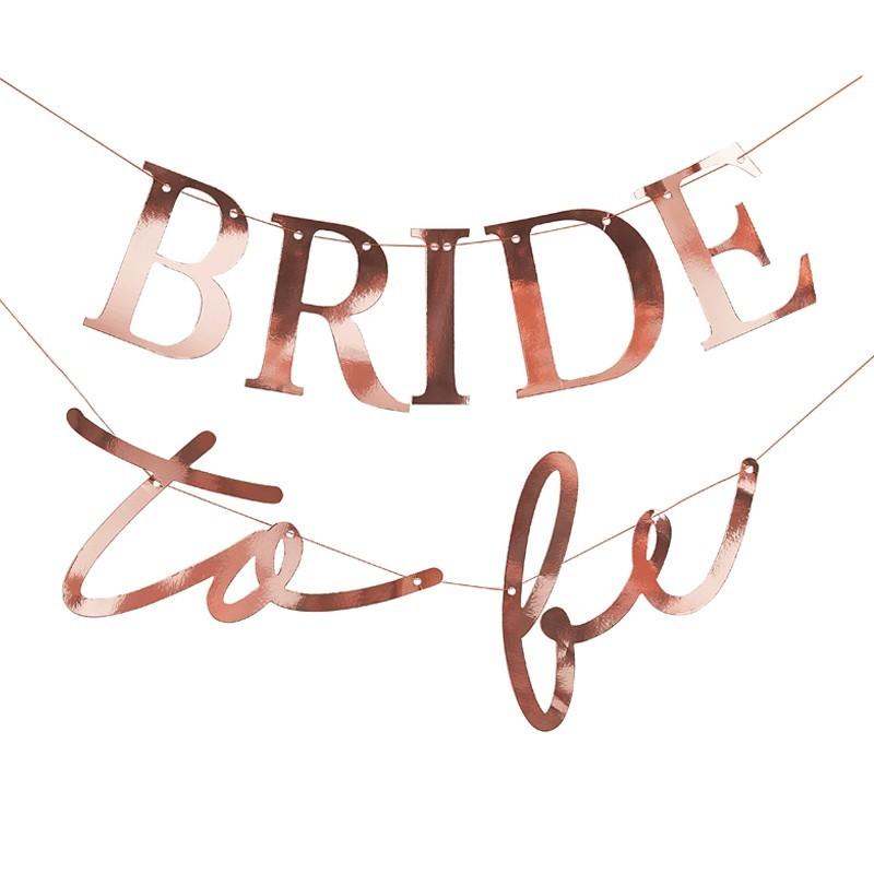 Guirnalda Bride to be Oro rosa