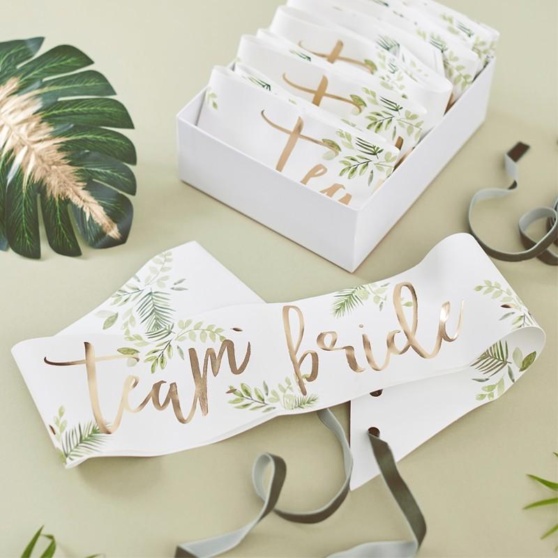Seis bandas Team Bride Botanic