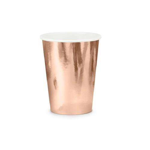 6 Vasos Oro rosa