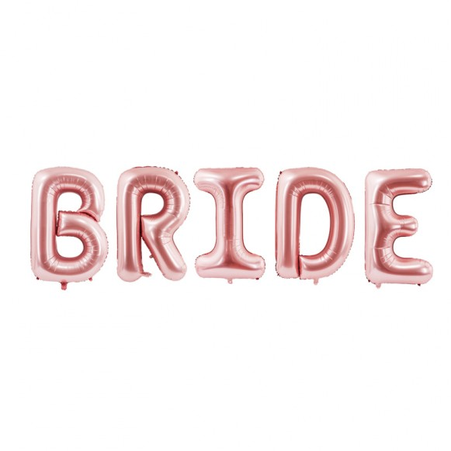 Globo letras BRIDE oro rosa