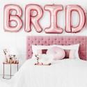 Globo letras BRIDE rosa
