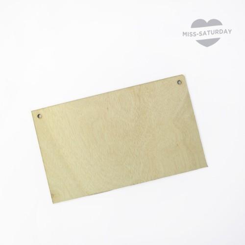 Cartel de madera natural personalizable