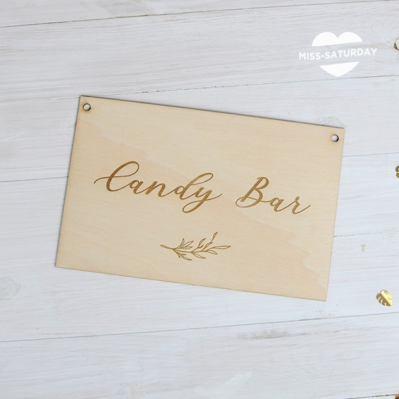 Cartel madera Candy Bar Botanic