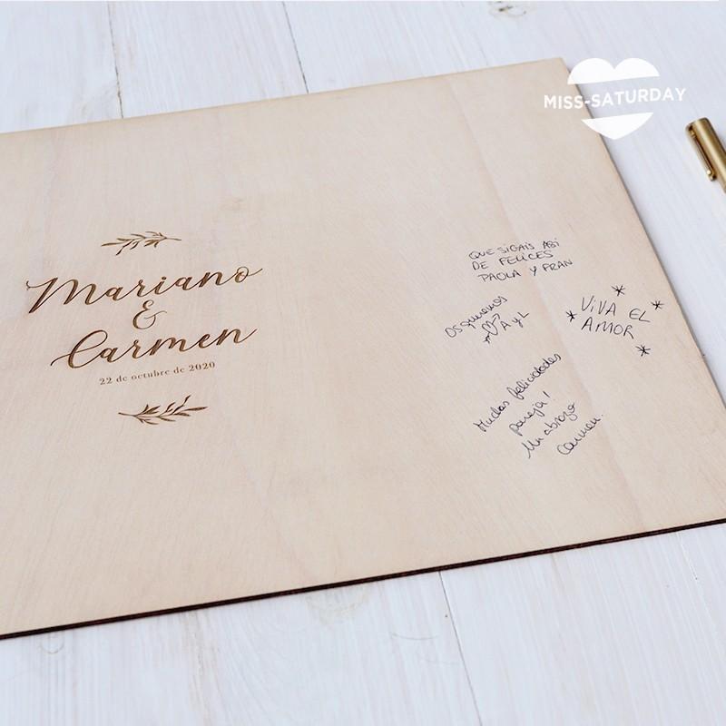 Cartel de firmas madera Botanic