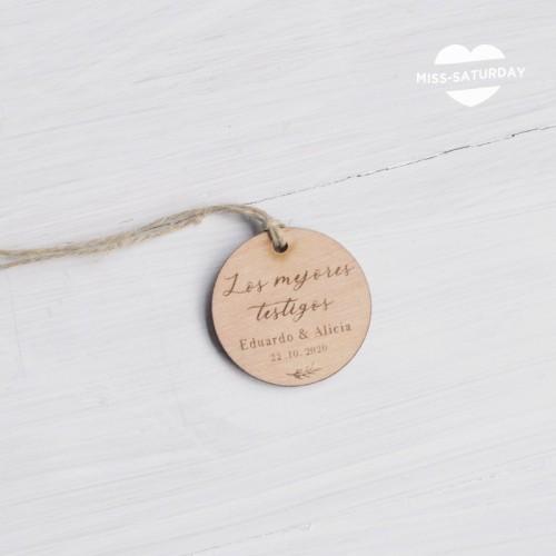 Etiqueta perso. madera Botanic - Testigos