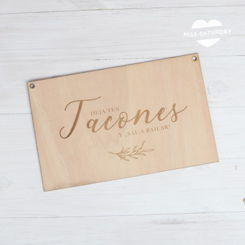 Cartel madera Tacones Botanic