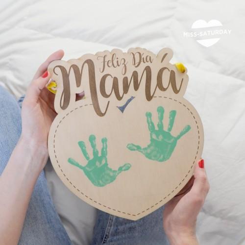 Placa Mamá Corazón para dibujar