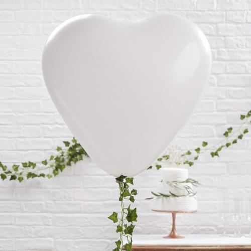 Globo blanco corazón 27 cm