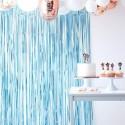 Cortina de tiras foil azul