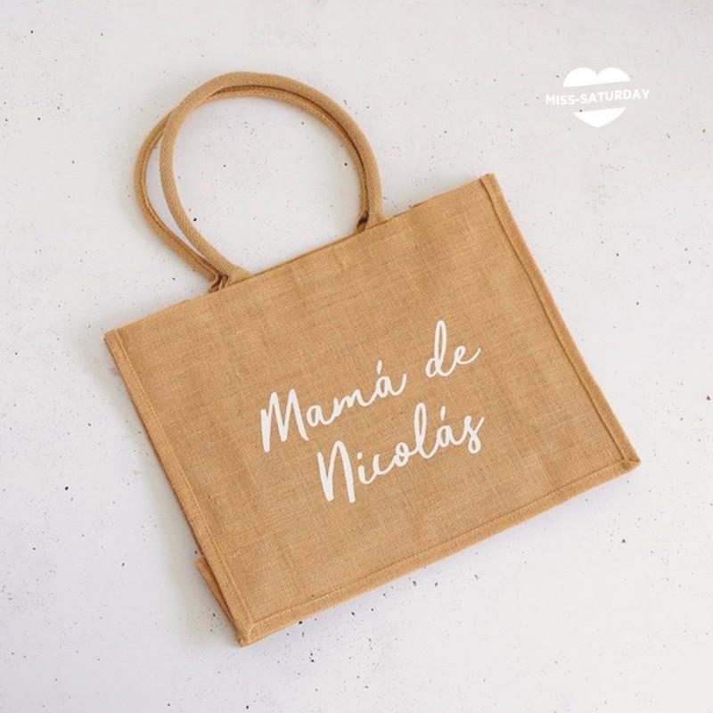 """Bolsa de yute """"Mamá de"""""""