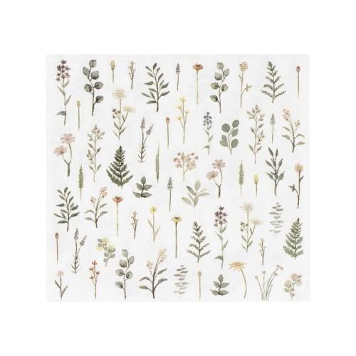 16 Mini servilletas Botanic