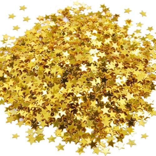 Confetis mini estrellas doradas