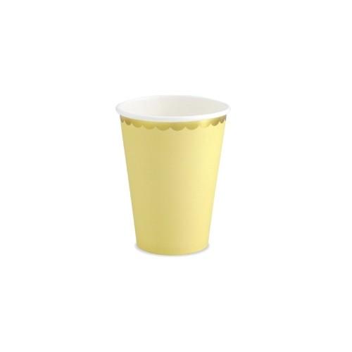 6 Vasos Amarillo y dorado