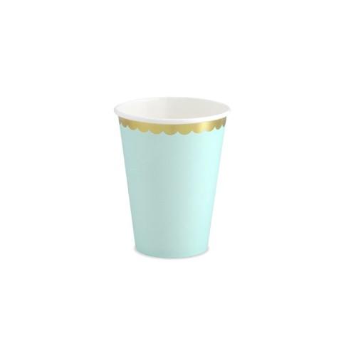 6 Vasos Mint y dorado