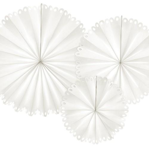 3 Abanicos blanco