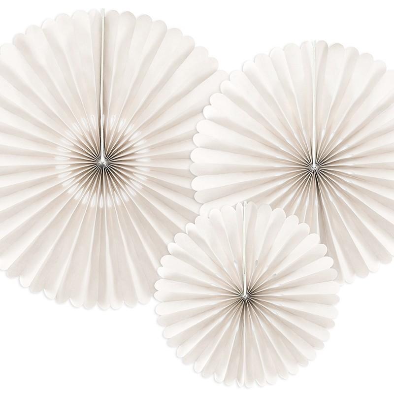 3 Abanicos blancos