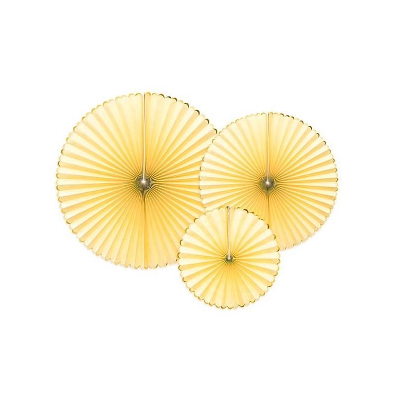 3 Abanicos Amarillo