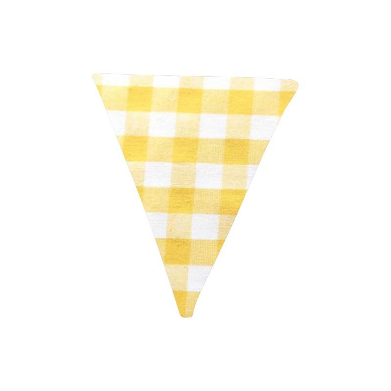 Banderín de tela Vichy amarillo