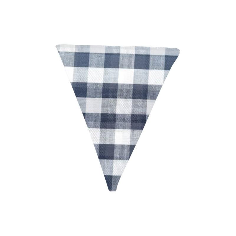 Banderín de tela Vichy Azul oscuro