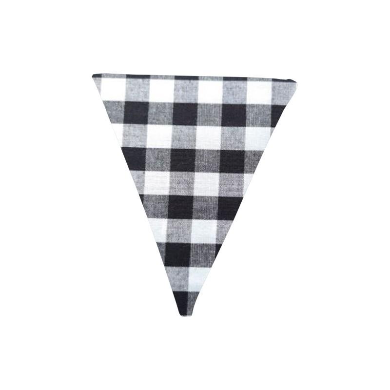 Banderín de tela Vichy Negro