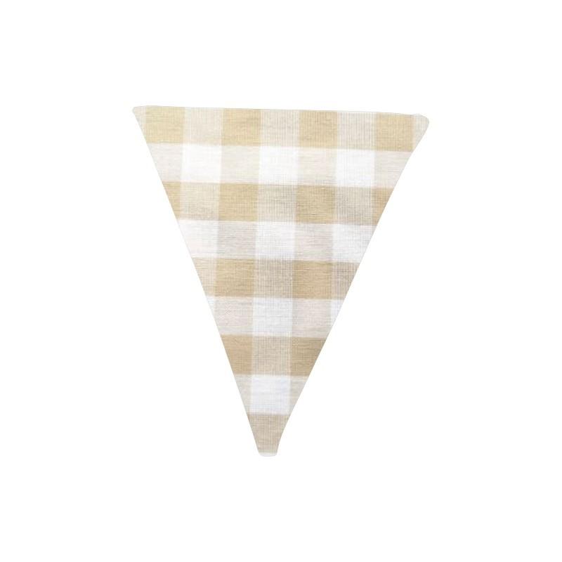 Banderín de tela Vichy camel
