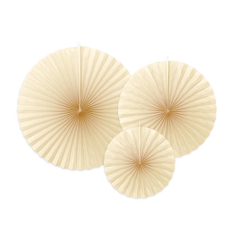 3 Abanicos crema