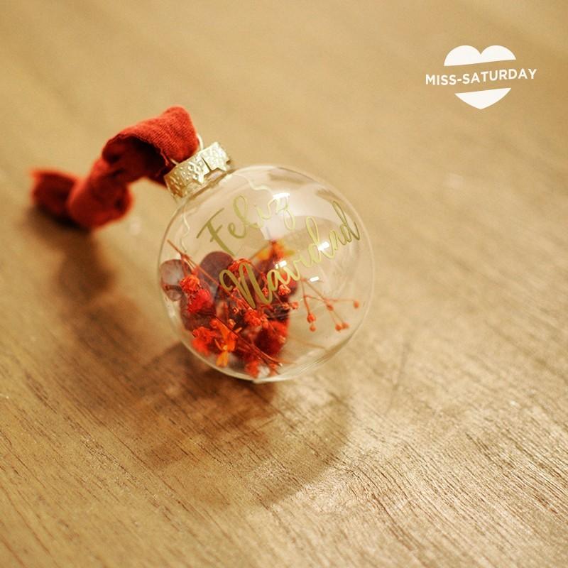 Bola Navidad vidrio - Feliz Navidad
