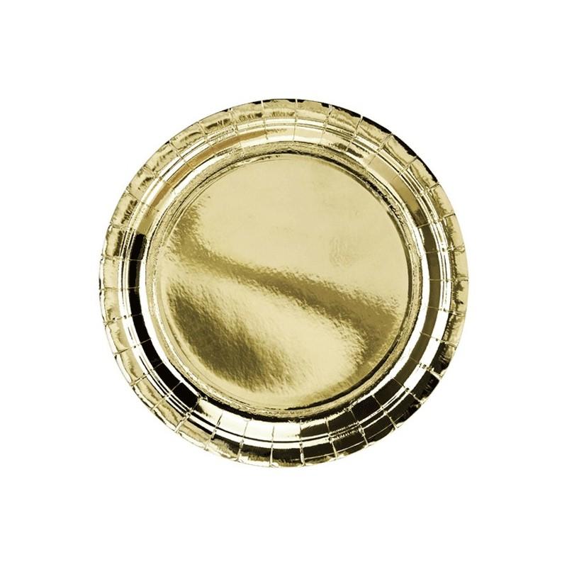 6 Platos dorados