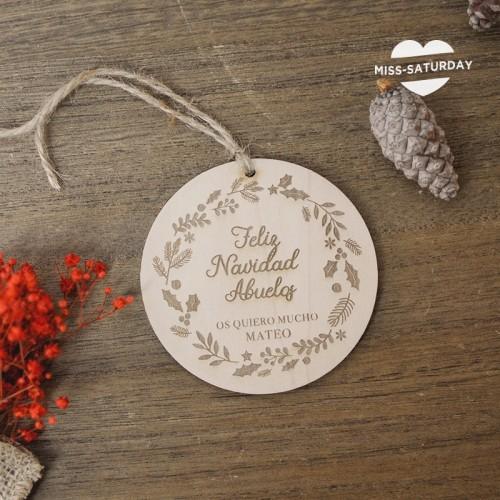 Bola Navidad personalizada Etiqueta