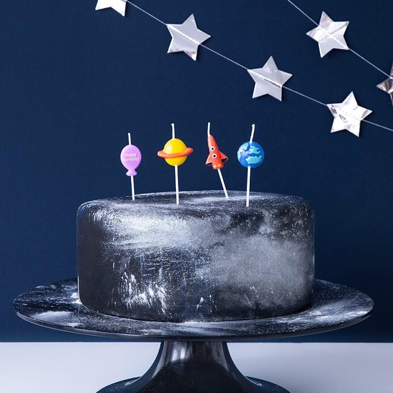 Velas cumpleaños planetas - espacio