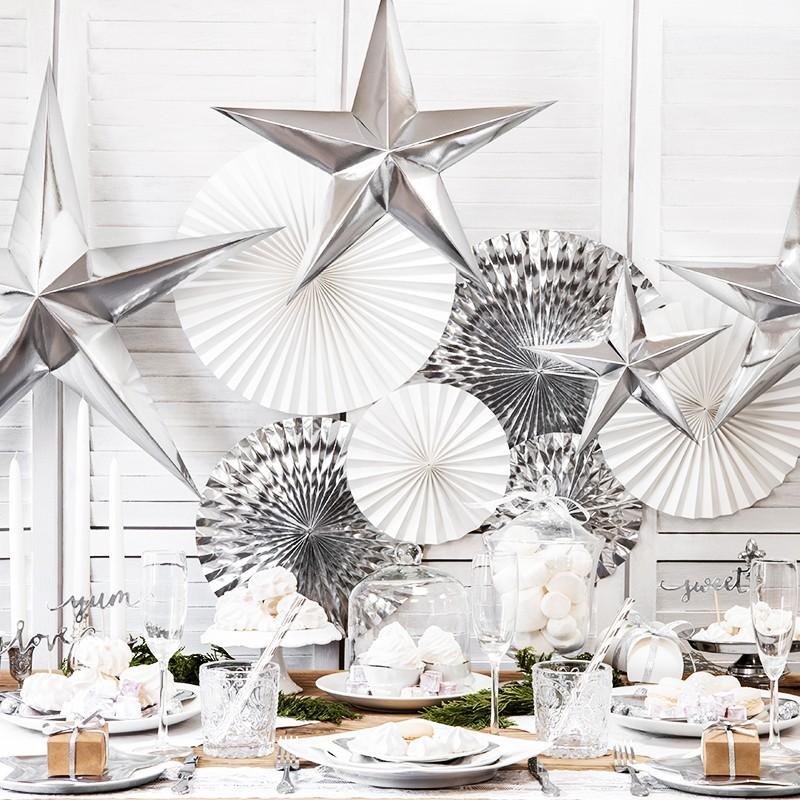 Estrellas brillante plata