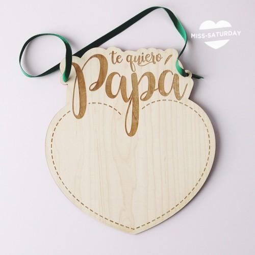 Placa Papá Corazón para dibujar