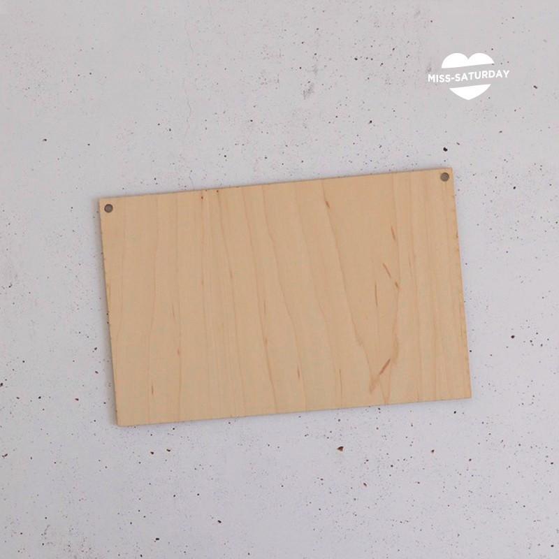 Cartel de madera personalizable