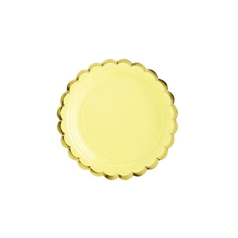 6 Platos pequeños Lila y dorado