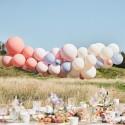 Arco de globos melocotón y rosa
