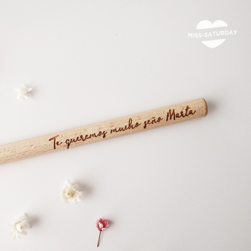 Bolígrafo personalizado Te queremos Seño