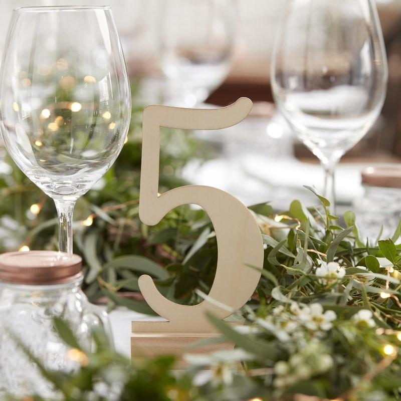 Números de mesa boda